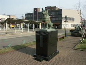 Hachi's Statue outside of Odate Station